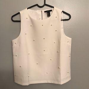 NWOT Pearl embellished blouse Forever 21 size S